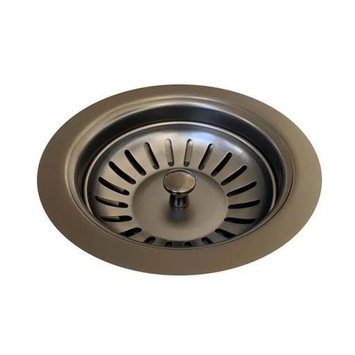 Meir Sink Strainer and Waste Plug Basket with Stopper - Gun Metal online | Bathroom Warehouse