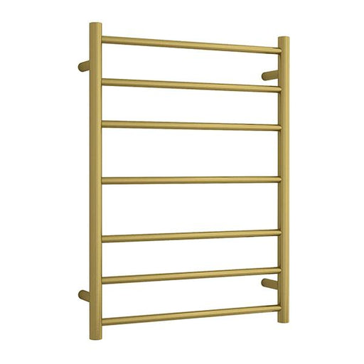 Thermogroup 7 Bar Thermorail Heated Towel Ladder Brushed Gold 600 x 800 x 122 online at Bathroom Warehouse