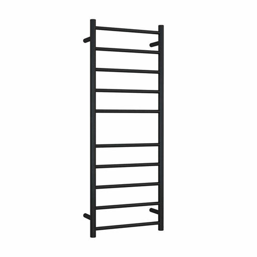 Thermogroup 10 Bar Thermorail Matte Black Straight Round Heated Towel Ladder at Bathroom Warehouse