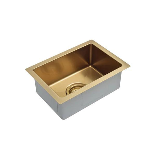 Meir Kitchen Mini Sink Single Bowl 322mm x 222mm - Brushed Bronze Gold online - Small Kitchen Sinks| Bathroom Warehouse
