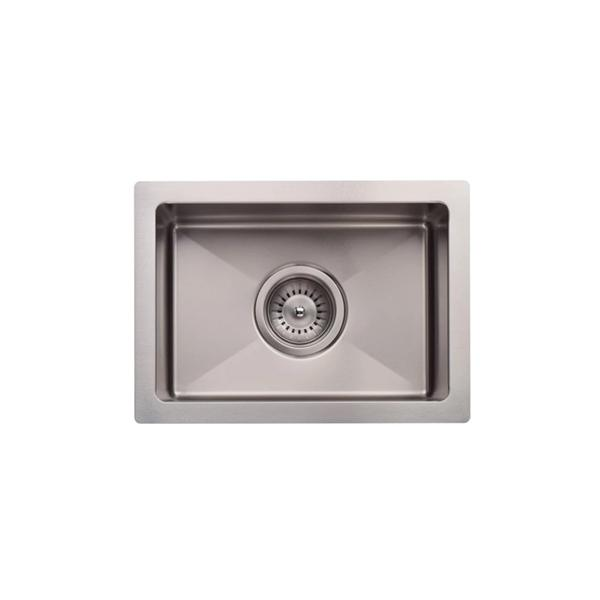 Meir Kitchen Mini Sink Single Bowl 322mm x 222mm - Brushed Nickel birdseye view | Bathroom Warehouse