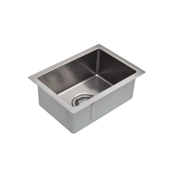 Meir Kitchen Mini Sink Single Bowl 322mm x 222mm - Brushed Nickel online | Bathroom Warehouse