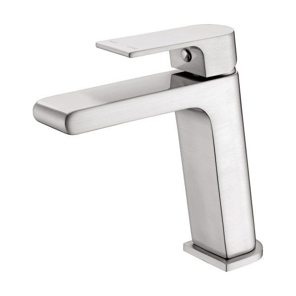 Nero Vitra Basin Mixer - Brushed Nickel online | Bathroom Warehouse