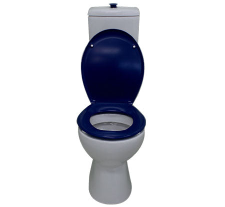 Bella Care Toilet With Blue Raised Button & Seat - Bathroom Warehouse