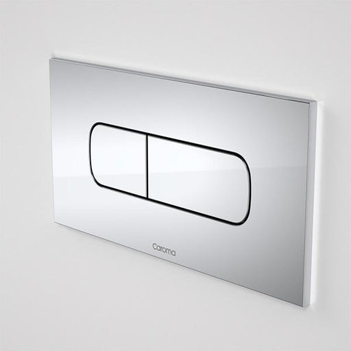Caroma Invisi Series II Metal Oval Dual Flush Plate & Buttons by Caroma | Bathroom Warehouse