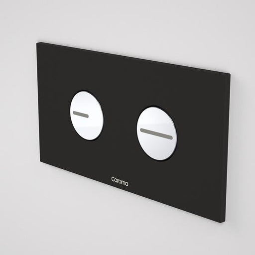 Caroma Invisi Series II Round Dual Flush Plate & Buttons - Black by Caroma | Bathroom Warehouse
