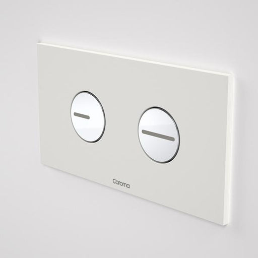 Caroma Invisi Series II Round Dual Flush Plate & Buttons - White by Caroma | Bathroom Warehouse