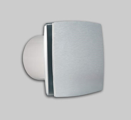 Chico 100 Brushed Aluminium Fan - Bathroom Warehouse