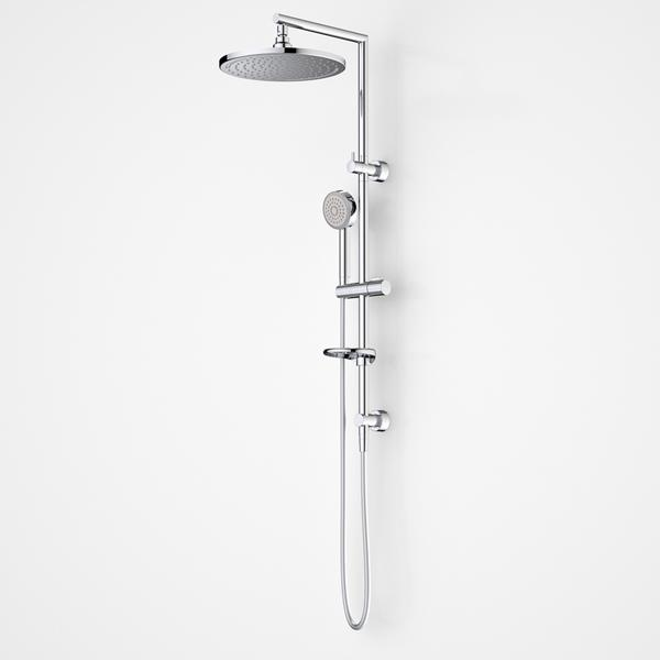 Dorf Luminous LED Round Rail Shower With Overhead | Bathroom Warehouse