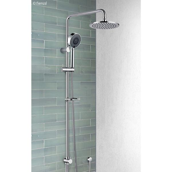 Fienza Michelle Multifunction Rail Shower - Chrome double shower | Bathroom Warehouse