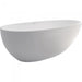 Fienza Bahama Matte White Stone Freestanding Bath | Bathroom Warehouse