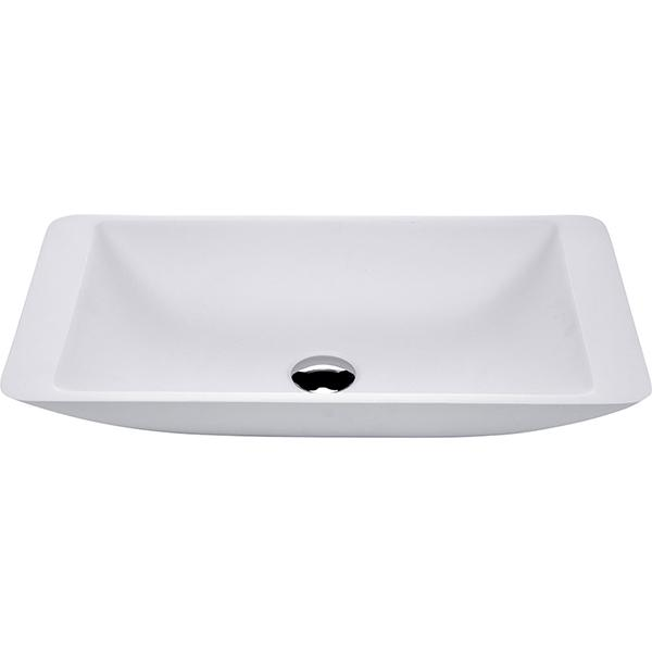 Fienza Classique 620 Above Counter Solid Surface Basin - Matte White | Bathroom Warehouse