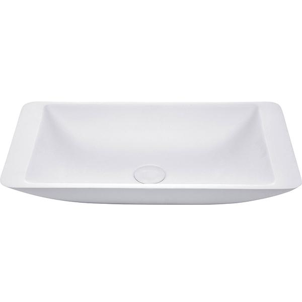 Fienza Classique 620 Above Counter Solid Surface Basin - Matte White with matte white waste