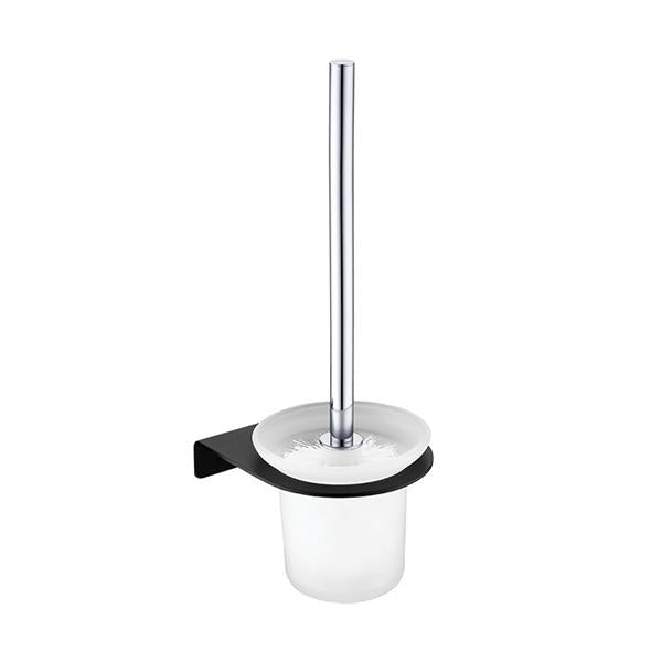 Fienza Lincoln Mixed Finish Toilet Brush & Holder | Bathroom Warehouse