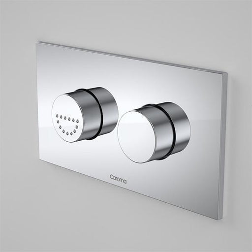 Caroma Invisi Series II Round Dual Flush Plate & Raised Care Buttons by Caroma | Bathroom Warehouse