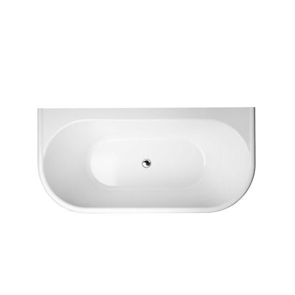 Decina Oxford 1700mm Back-To-Wall Freestanding Bath Online | Bathroom Warehouse