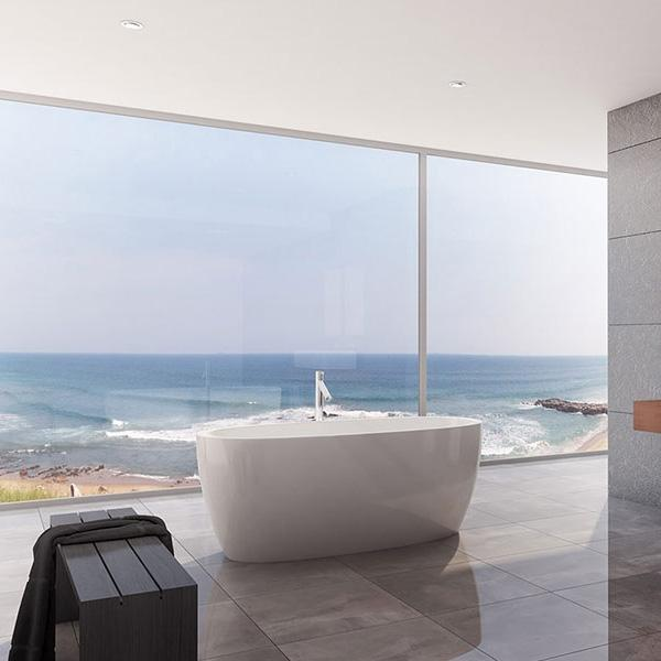 Decina Sheraton Freestanding Bath in luxury bathroom on the beach | Bathroom Warehouse