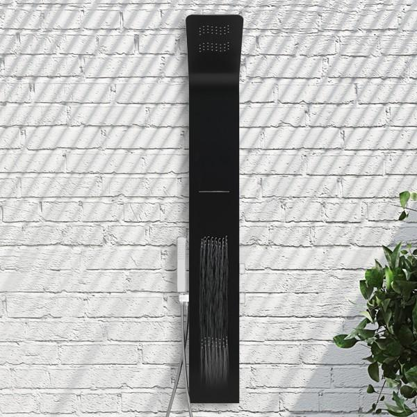 Decina Sofia All-In-One Shower Tower - Matte Black/Chrome Online | Bathroom Warehouse