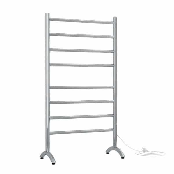 Thermogroup 8 Bar Straight Round Freestanding Heated Towel Rail at Bathroom Warehouse