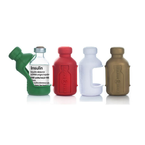 Insulin Vial Protector Case, Short 10mL Size, Holiday 4-Pack