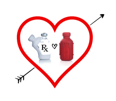 Vial Safe insulin vial protective case short size white red color heart Rx diabetes medicine 2 pack Valentine's Day