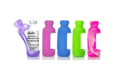 Vial Safe insulin vial protector case tall size 5 pack tie dye purple pink light blue green insulin diabetes medicine