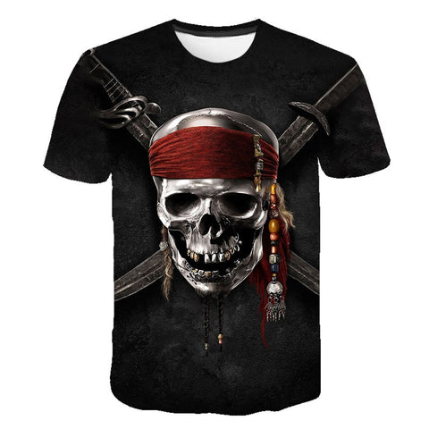 T Shirt Tête de Mort Pirate