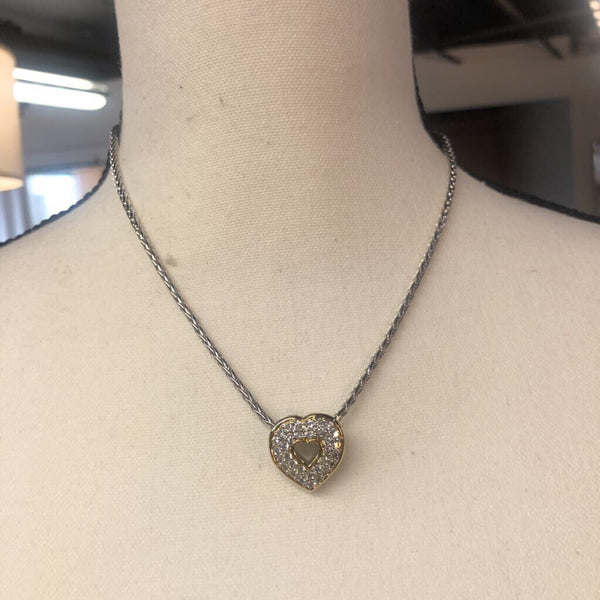 Heart Pave Pendant with Chain