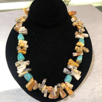 Amazonite with Turquoise necklace