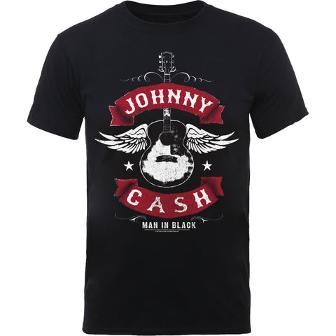 JOHNNY CASH UNISEX TEE: WINGED GUITAR