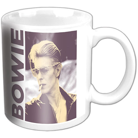 DAVID BOWIE BOXED STANDARD MUG: SMOKING