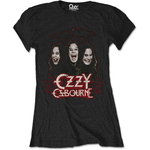 OZZY OSBOURNE LADIES TEE: CROWS & BARS