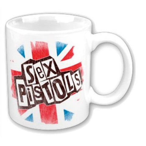 THE SEX PISTOLS BOXED STANDARD MUG: LOGO & FLAG
