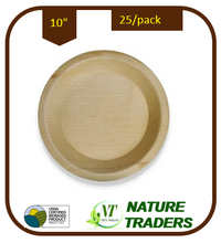 "Load image into Gallery viewer, Palm/Areca leaf Round standard Plates (10"")"