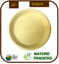 "Load image into Gallery viewer, Palm/Areca leaf Round standard Plates (12"")"
