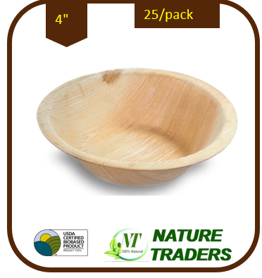 Palm/Areca leaf Round Bowl(4