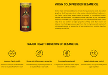 Load image into Gallery viewer, NATURE TRADERS Cold Pressed Sesame Oil