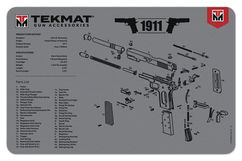 TekMat - 1911 Grey Wapen Cleaning Mat