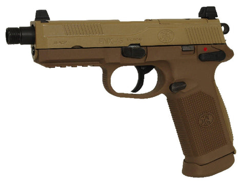 Cybergun - FN Herstal FNX-45 Tactical Dark Earth GBB - Airsoft INC. ® store