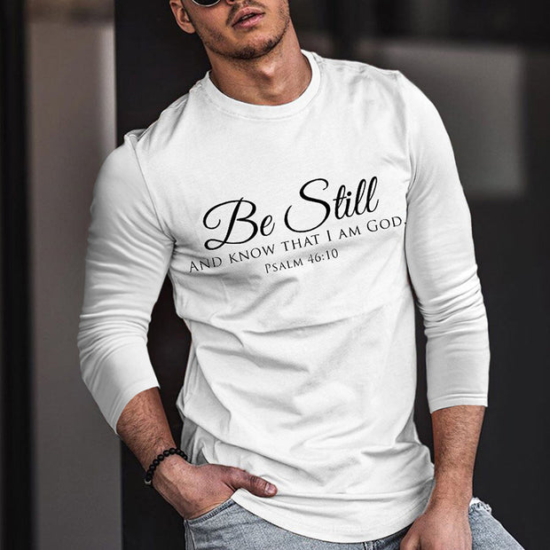 Men's Fashion Casual Long Sleeve Printed T-shirt