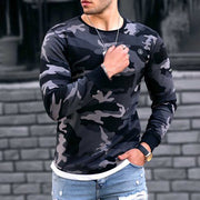 Men's Modern Camouflage Long Sleeve Shirt