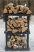 Outdoor Firewood Racks Made With Industrial Plastic, Chemical & Weather Resistant