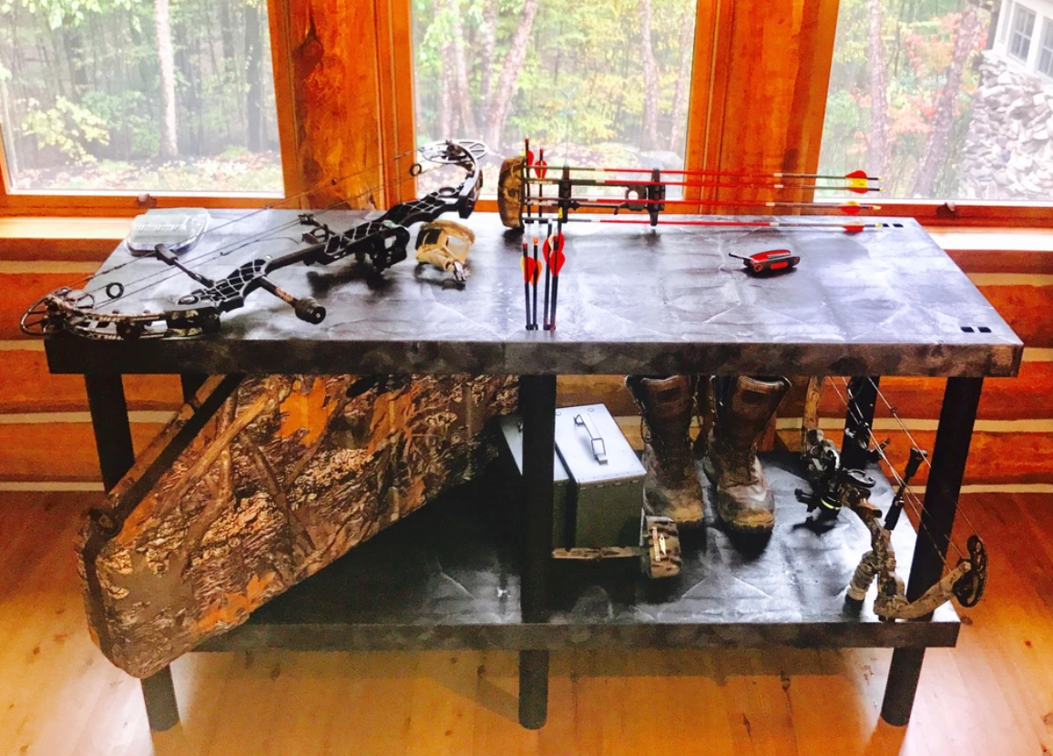 Bow & Arrow Workbench With Storage Shelf
