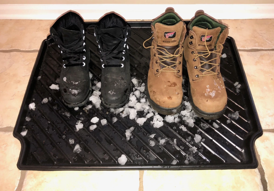 Boot Tray Made In USA With Heavy-Duty Recycled Plastic