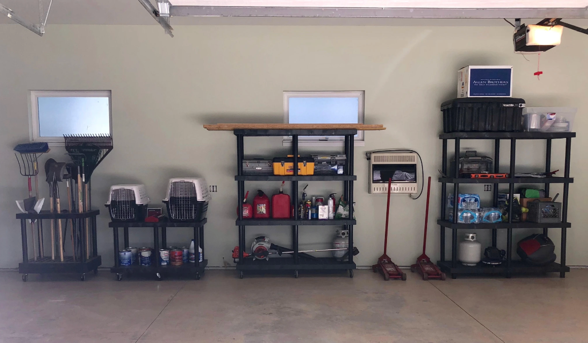 Garage Storage: Organize & Lift Your Possessions Off The Floor With Heavy-Duty Plastic Storage Systems