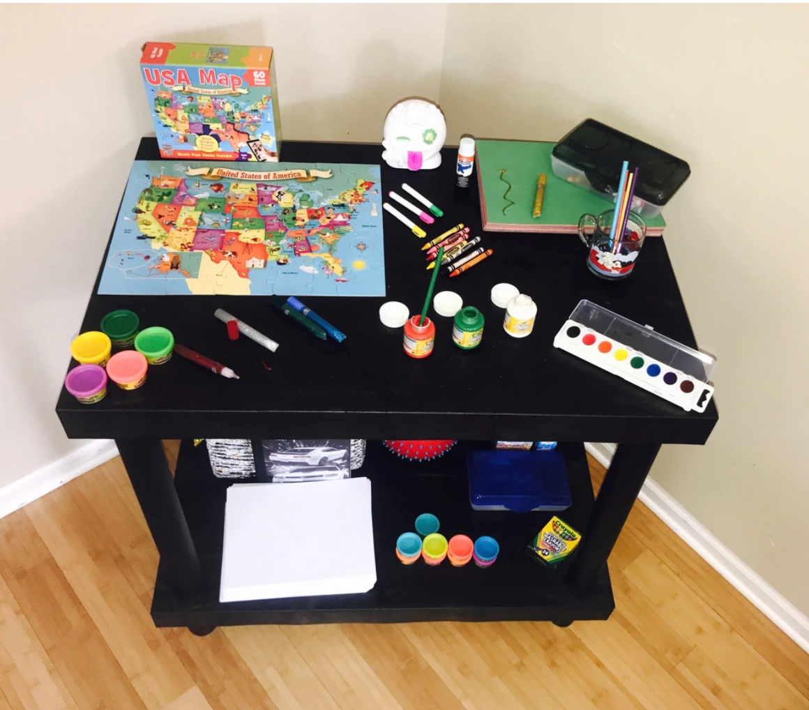 Sturdy Kids Table For Messy Projects