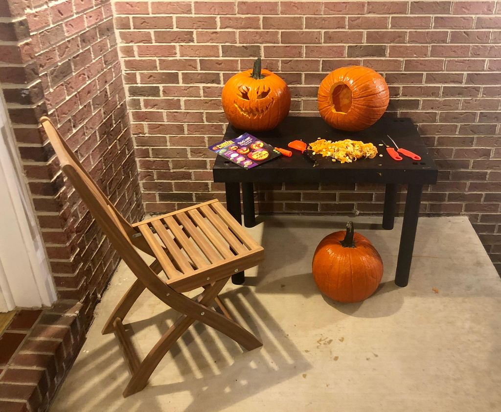 Versatile, Portable & Easy To Clean Pumpkin Carving Station & Holiday Display Table