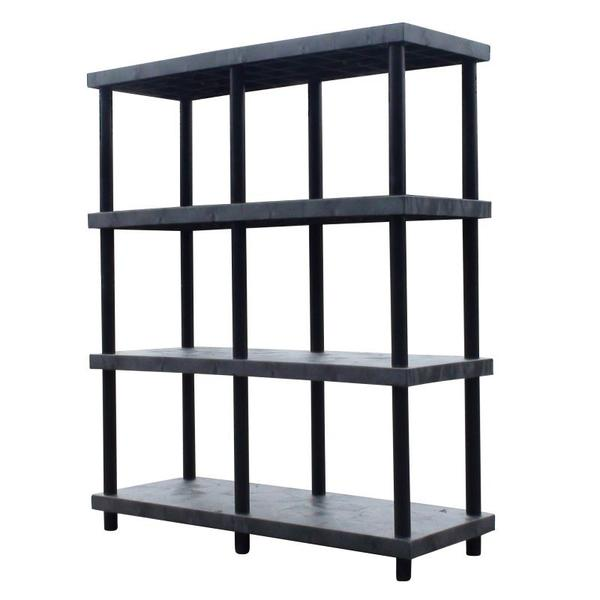 4 Shelf Units| Industrial Plastic Shelves |  TopShelfGarage.com