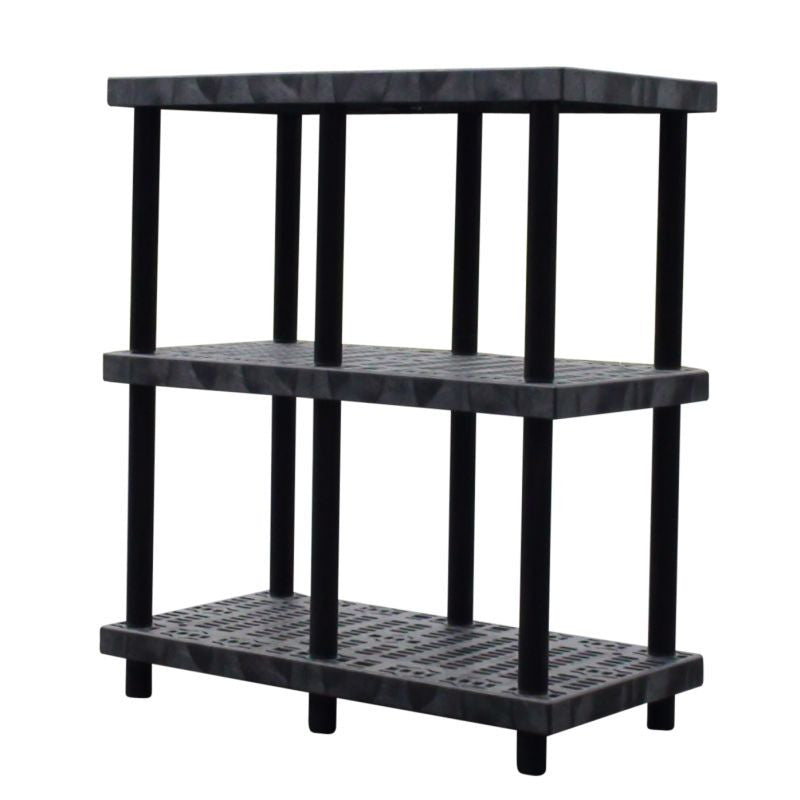 Heavy-Duty Plastic 3-Shelf Shelving System