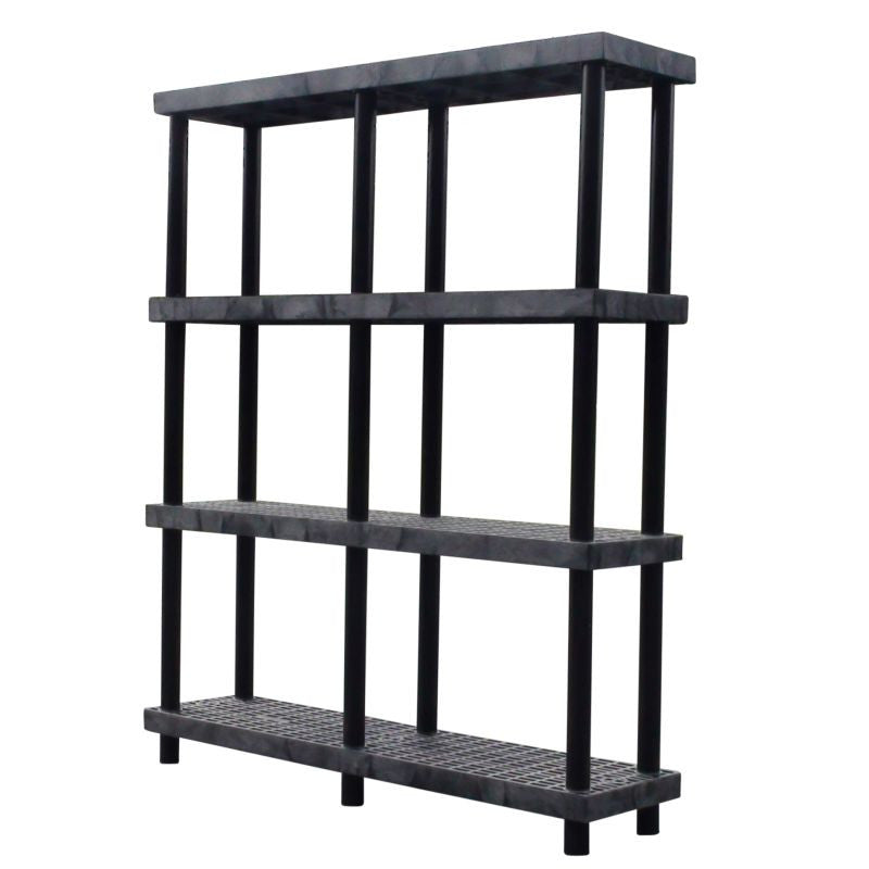 heavy-duty 4-shelf storage shelving unit with ventilated shelves